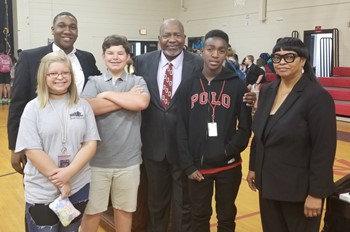 Dr. Uzee Brown, Jr., music educator, visits Spartanburg District Three Schools