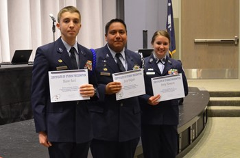 Three Broome High School cadets to earn their private pilot's license for free after being selected for Air Force scholarship