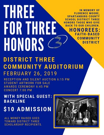 Three for Three Honors Event