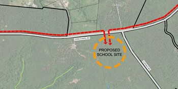 District Three announces location and donation for proposed new middle school
