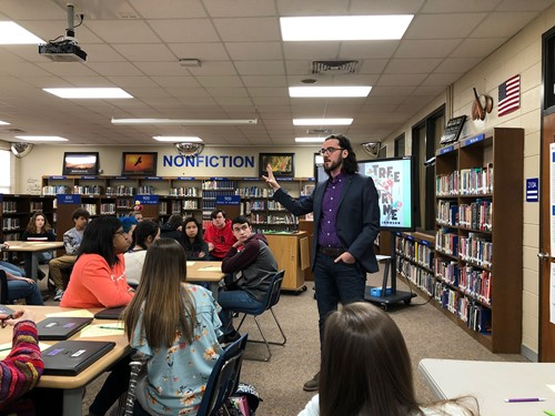Author and Professor Caleb Johnson Conducts Workshop
