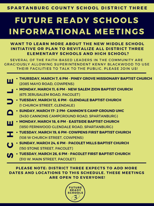 Schedule of Informational Meetings