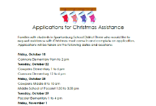 Christmas Assistance Applications