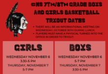 girls and boys basketball tryouts