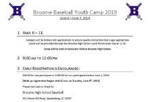 Broome Baseball Youth Camp