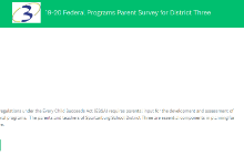 19-20 Federal Programs Parent Survey for District Three