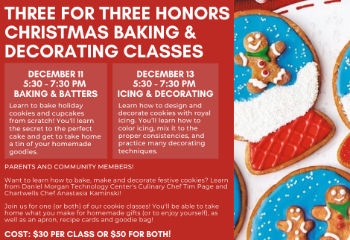 Three for Three Honors Baking & Decorating Classes