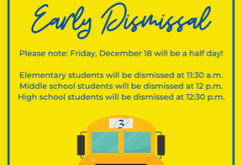 Early Dismissal for December 18