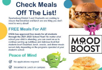 Free meals for students all year long!