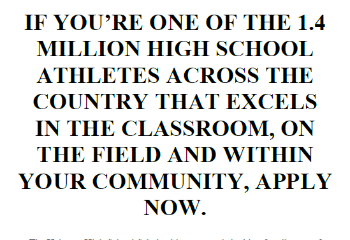 scholarship application for senior athletes available at heismanscholarship.com