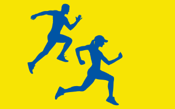 graphic of two runners