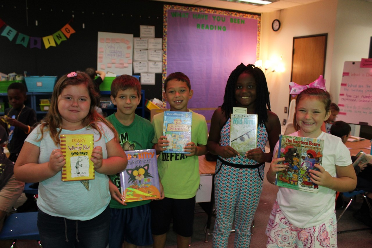 Third Graders Reading