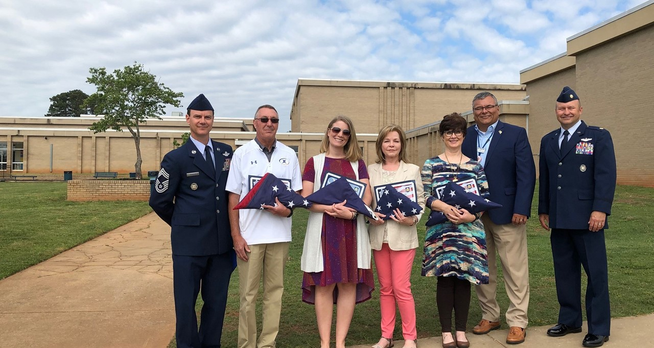 2019 Flag Recipients at Change of Command Ceremony