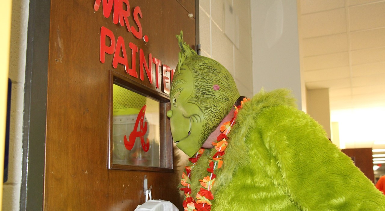 Grinch Visits Broome Hoping to Stop Christmas Cheer