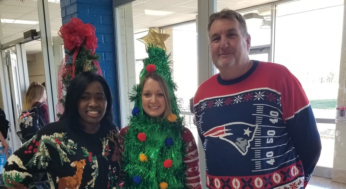 Winners of the 2019 Christmas Sweater Contest