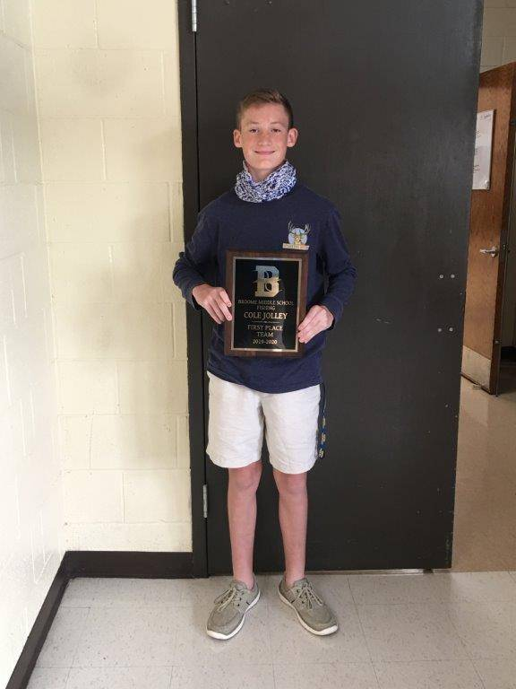 Cole Jolley: 1st place middle school