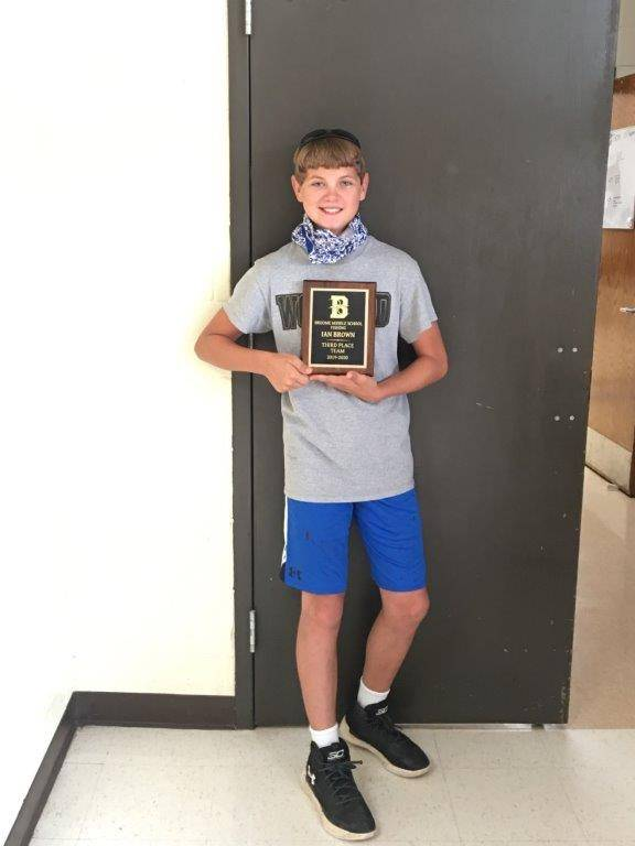 Ian Brown: 3rd place middle school