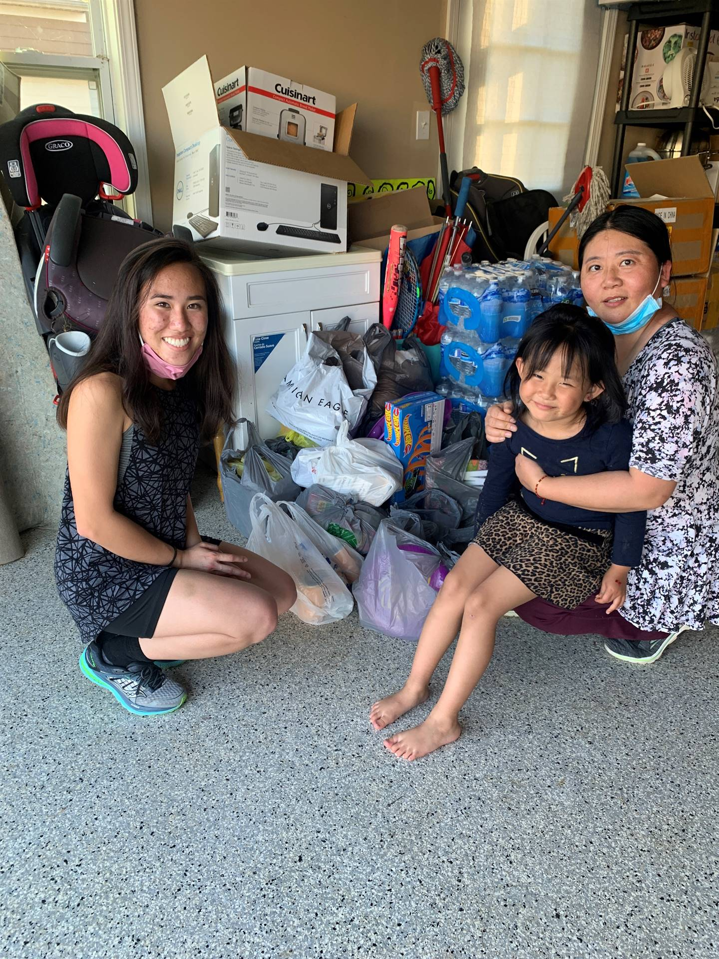 Excited to received donations