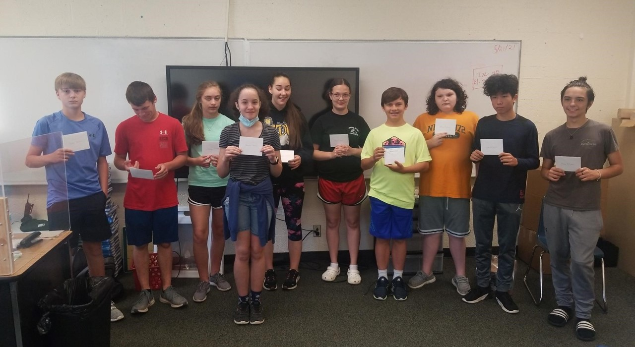Students with Math award.